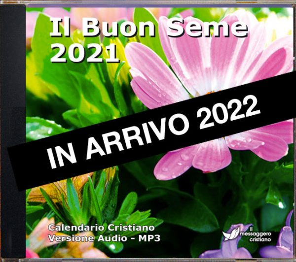 Calendario cristiano audio Il Buon Seme 2022 CD in arrivo
